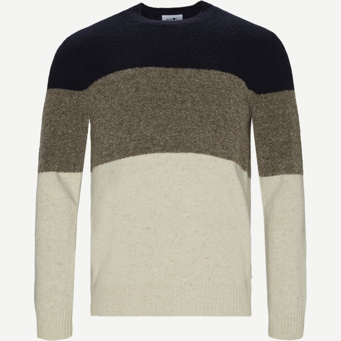 Ed Block Sweater - Strik - Regular - Blå