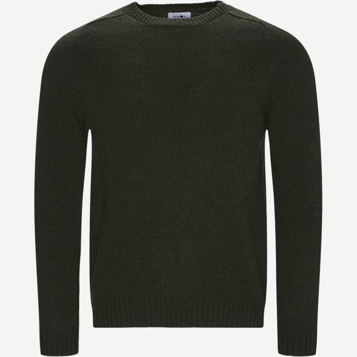 Nathan Sweater - Strik - Regular - Army