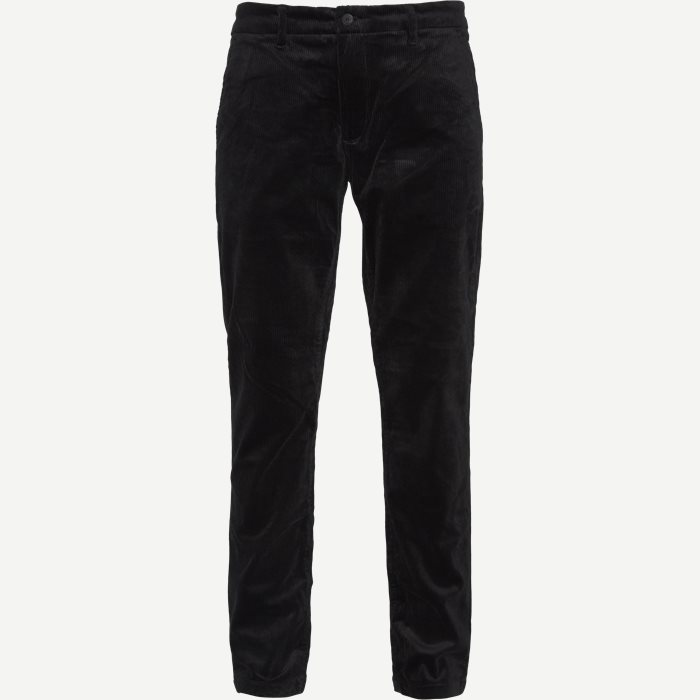 Karl Corduroy Chino - Bukser - Regular - Sort