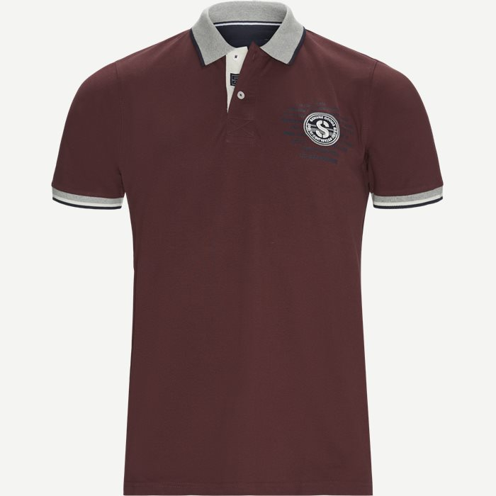 Gaston CP Polo T-shirt - T-shirts - Regular - Bordeaux
