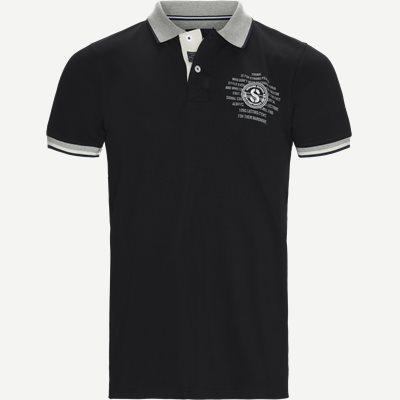 Gaston CP Polo T-shirt Regular | Gaston CP Polo T-shirt | Sort