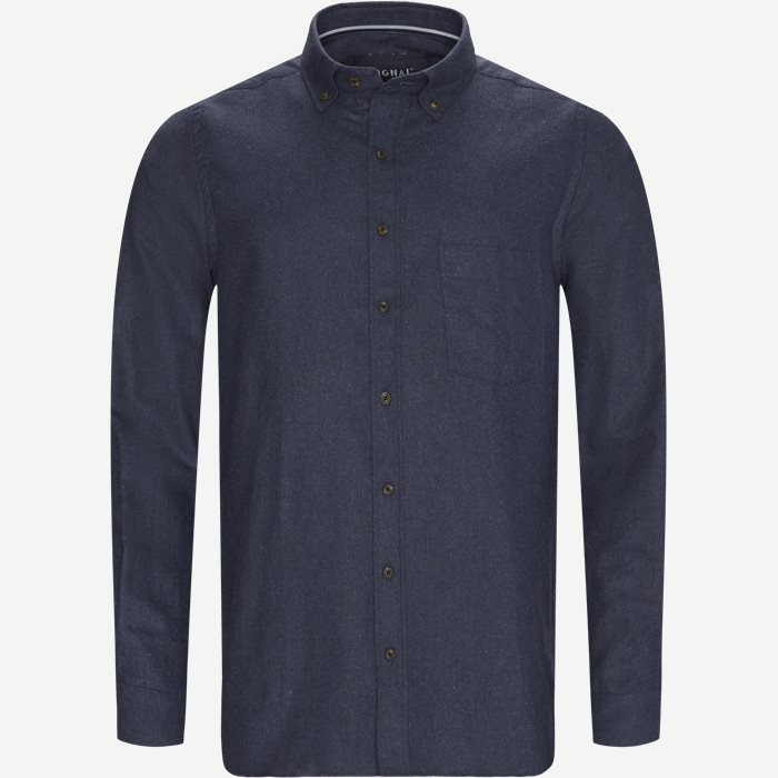 Franne Melange CP Button-Down Shirt - Skjorter - Regular - Blå