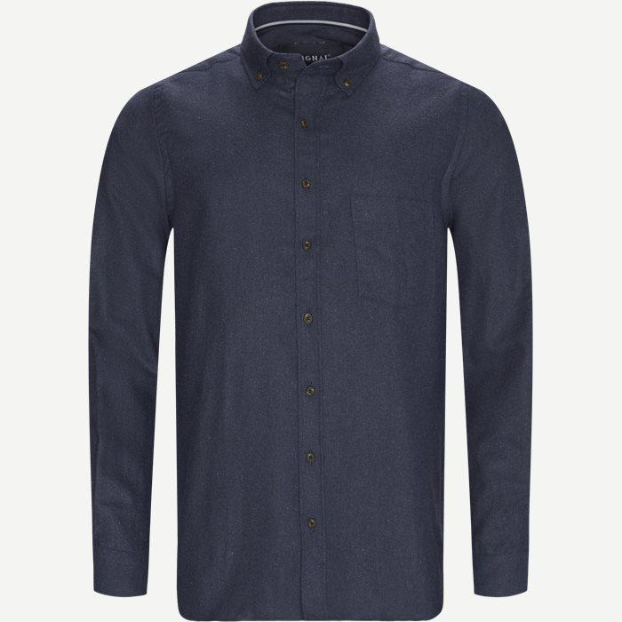 Franne Melange CP Button-Down Shirt - Skjorter - Regular - Blå