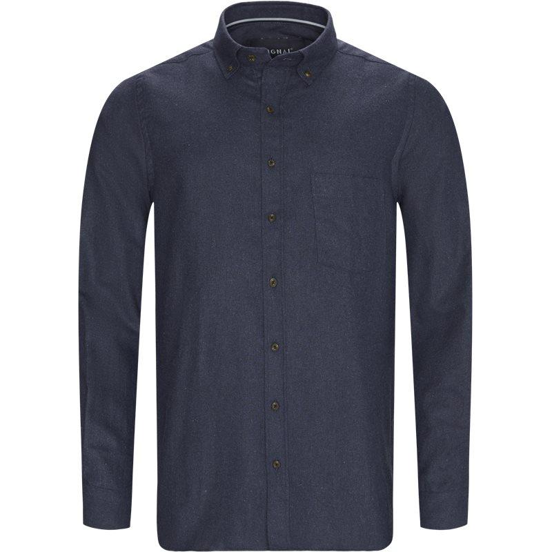 signal signal - franne melange cp button-down shirt