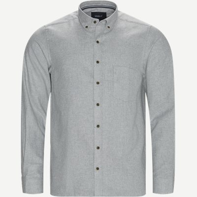 Franne Melange CP Button-Down Shirt Regular | Franne Melange CP Button-Down Shirt | Grå