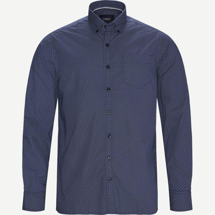 Fendi Print CP Skjorte - Skjorter - Regular - Blå