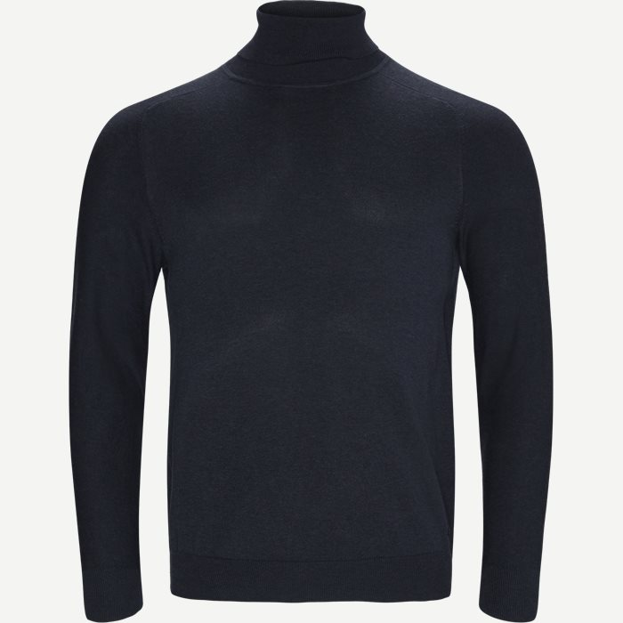 Kamerlos Turtleneck - Strik - Slim - Blå