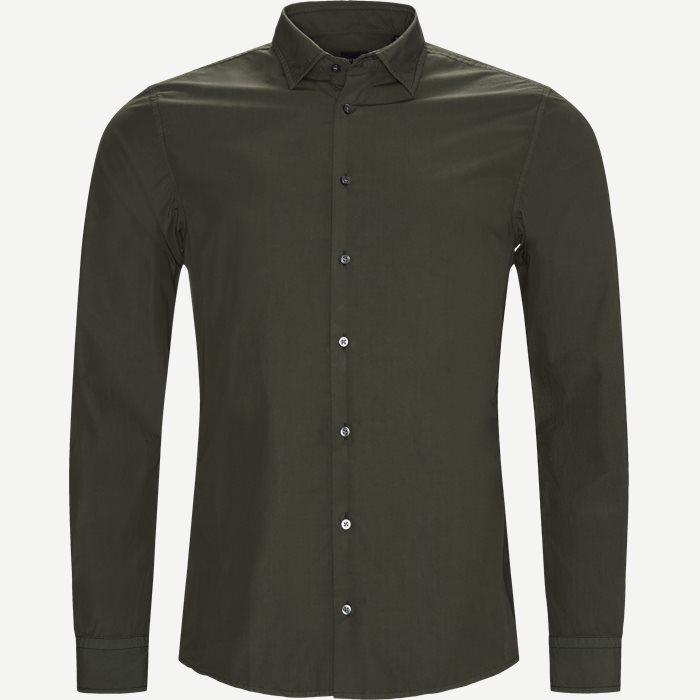 Hemden - Slim - Oliv