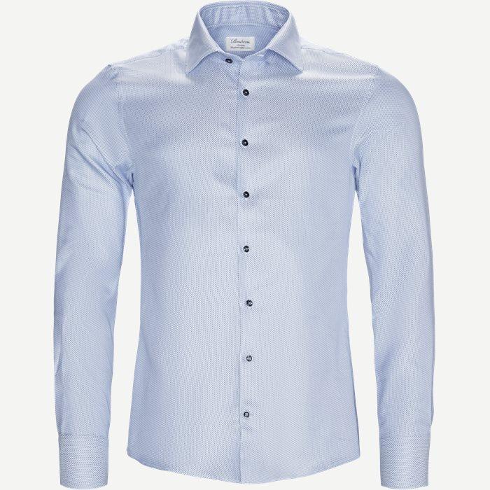 7853 Twofold Cotton Skjorte - Skjorter - Blå