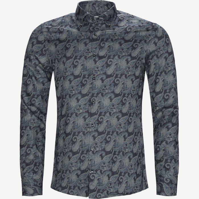 7820 Twofold Super Cotton Skjorte  - Skjorter - Blå