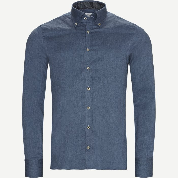 7635 Twofold Super Cotton Skjorte - Skjorter - Blå