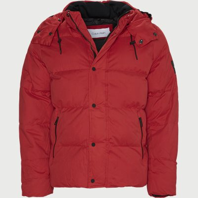 Mid Length Fake Down Jacket Regular | Mid Length Fake Down Jacket | Rød