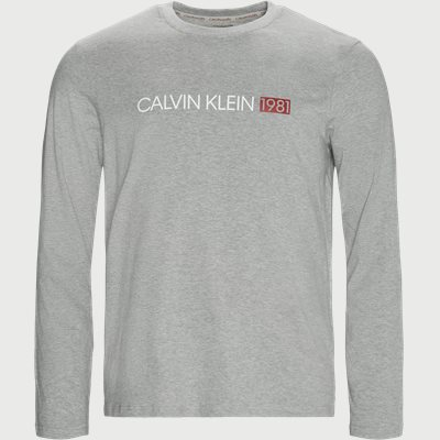 LS Crew Neck T-Shirt Regular | LS Crew Neck T-Shirt | Grå