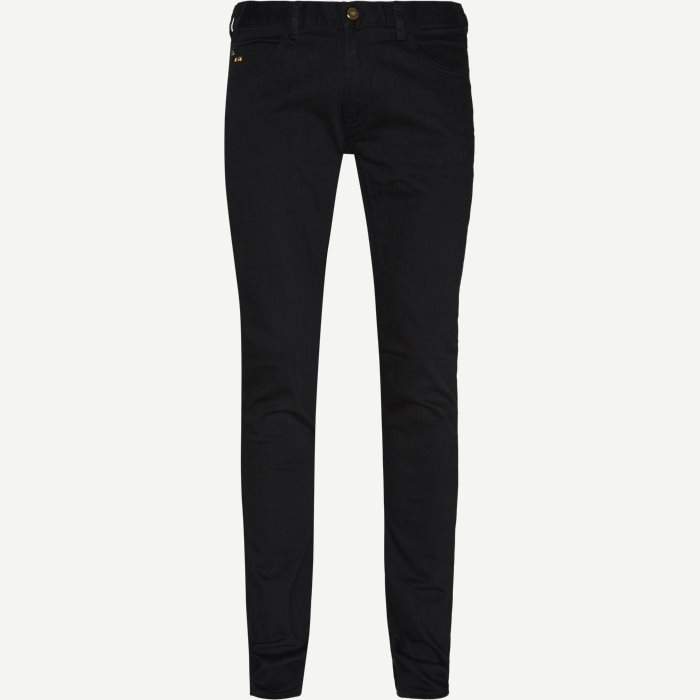 J10 Jeans - Jeans - Ekstra slim fit - Sort