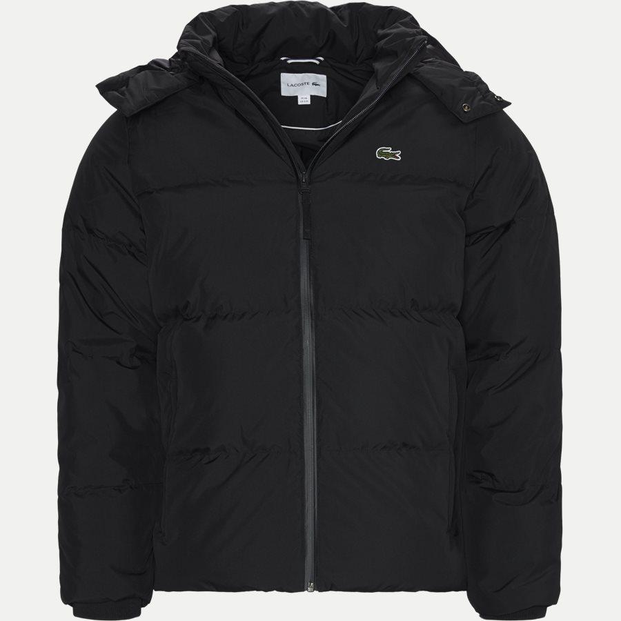 BH9358 - Detachable Hood Down Water-Resistant Taffeta Jacket - Jakker - Regular - SORT - 1