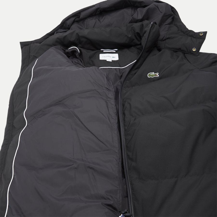 BH9358 - Detachable Hood Down Water-Resistant Taffeta Jacket - Jakker - Regular - SORT - 9