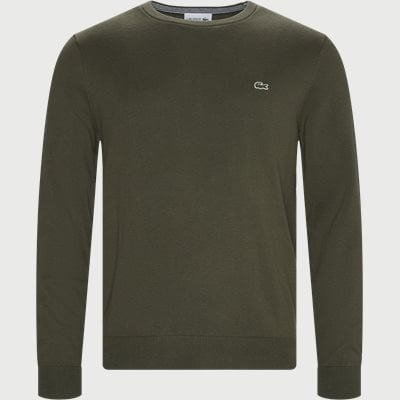 Crewneck Cotton Sweater Regular | Crewneck Cotton Sweater | Army