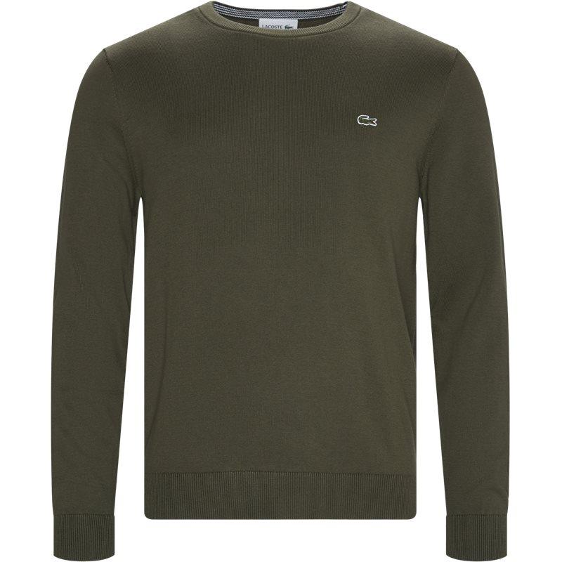Lacoste - crewneck cotton sweater fra lacoste på kaufmann.dk