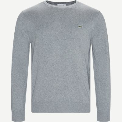 Crewneck Cotton Sweater Regular | Crewneck Cotton Sweater | Grå