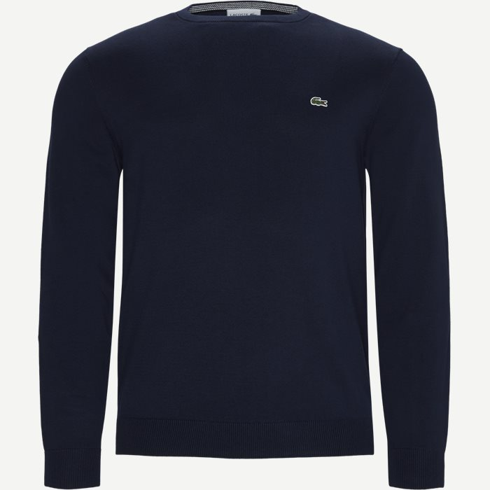 Crewneck Cotton Sweater - Strik - Regular - Blå