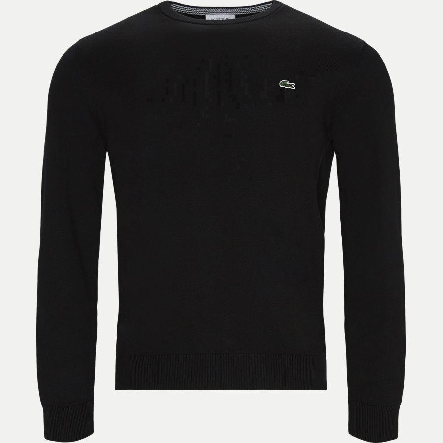 AH7004 - Crewneck Cotton Sweater - Strik - Regular - SORT - 1