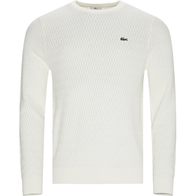 Image of   Lacoste - Crew Neck Textured Wool And Cashmere Blend Sweater