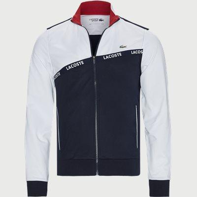 Signature Band Piqué Zip Sweatshirt Regular | Signature Band Piqué Zip Sweatshirt | Blå