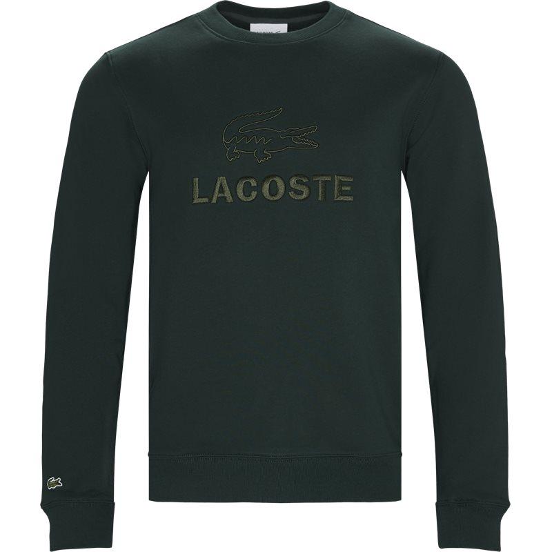 Lacoste - embroidered logo cotton fleece sweatshirt fra lacoste fra kaufmann.dk