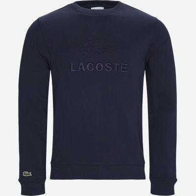 Embroidered Logo Cotton Fleece Sweatshirt Regular | Embroidered Logo Cotton Fleece Sweatshirt | Blå