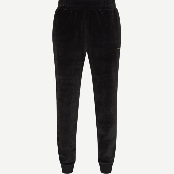 Golden Signature Velvet Sweatpants - Bukser - Regular - Sort