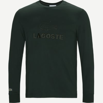 Tone-On-Tone Lacoste Embroidery Cotton T-shirt Regular | Tone-On-Tone Lacoste Embroidery Cotton T-shirt | Grøn