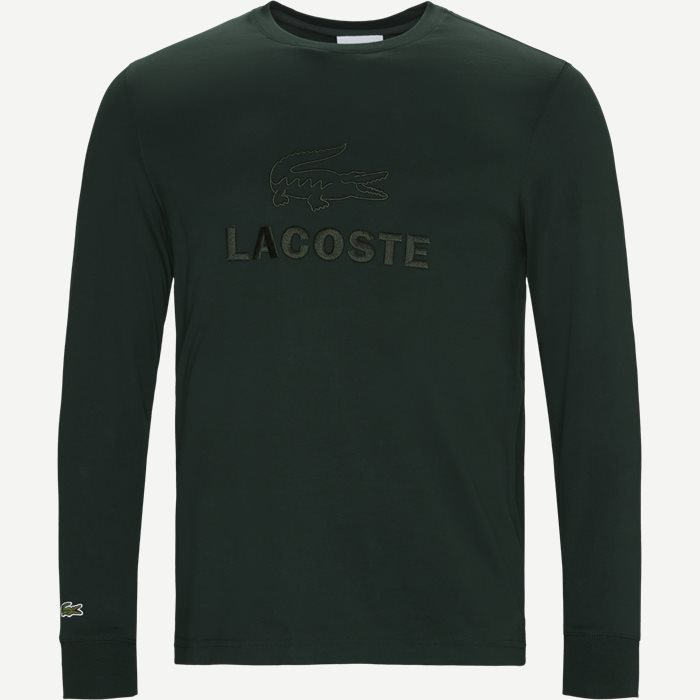 Tone-On-Tone Lacoste Embroidery Cotton T-shirt - T-shirts - Regular - Grøn