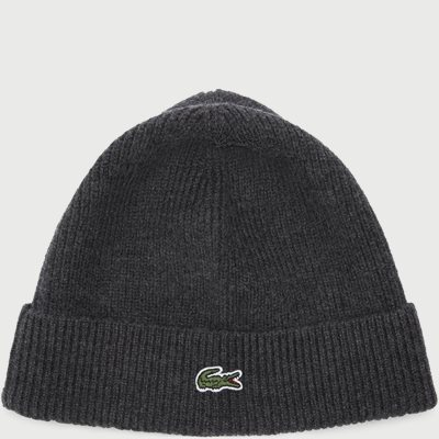 Turned Edge Ribbed Wool Beanie Turned Edge Ribbed Wool Beanie | Grå