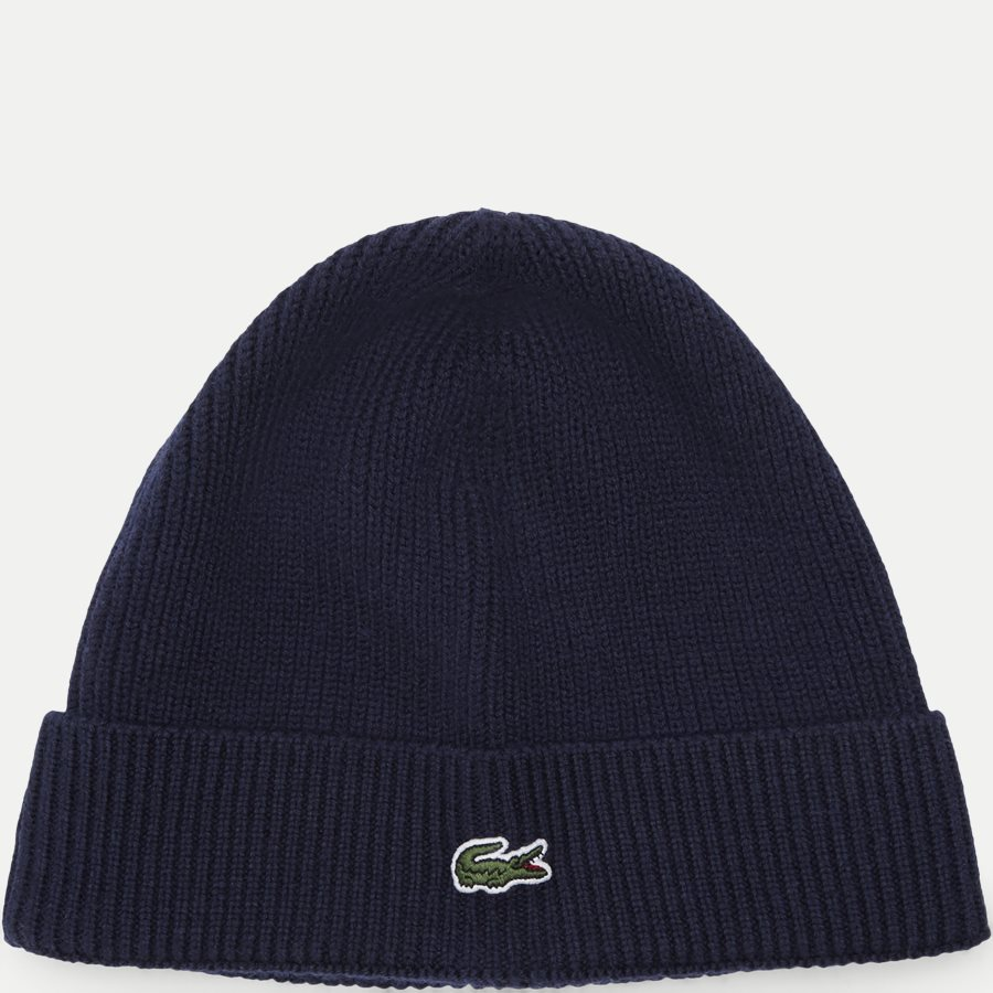 RB3502 - Turned Edge Ribbed Wool Beanie - Caps - NAVY - 1