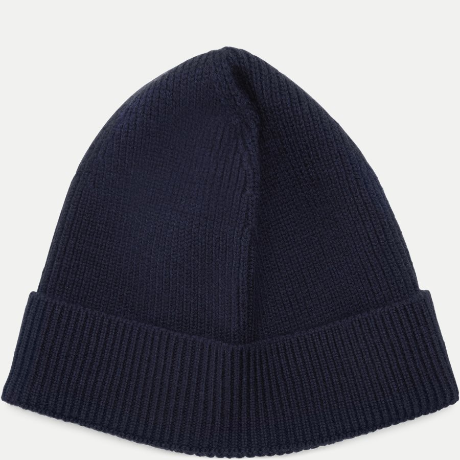 RB3502 - Turned Edge Ribbed Wool Beanie - Caps - NAVY - 2