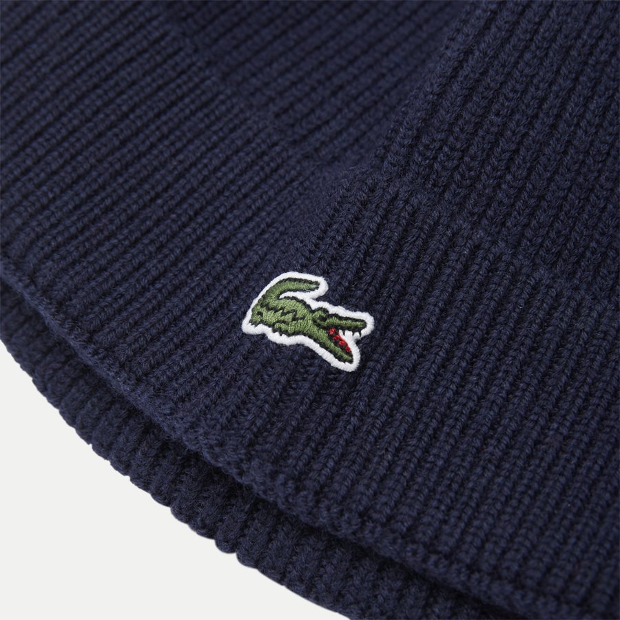 RB3502 - Turned Edge Ribbed Wool Beanie - Caps - NAVY - 3