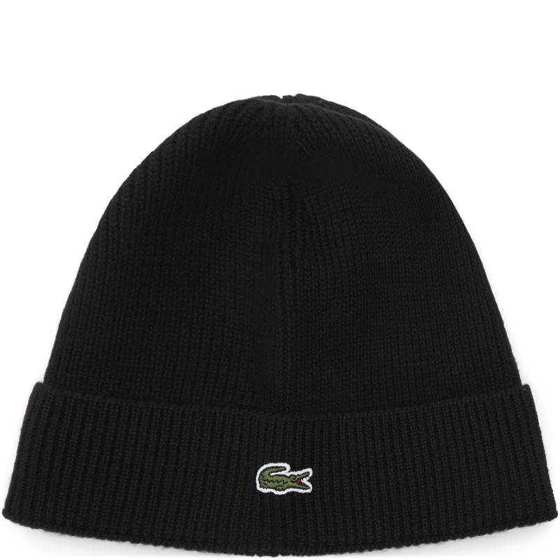 Image of   Lacoste - Turned Edge Ribbed Wool Beanie