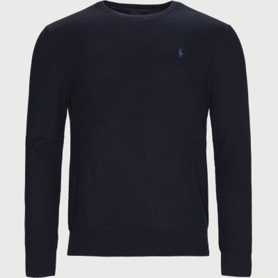 Crewneck Knitted Jumper Regular | Crewneck Knitted Jumper | Blå