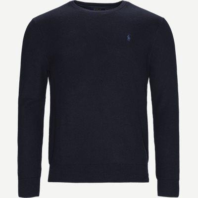 Crewneck Knitted Jumper Regular | Crewneck Knitted Jumper | Blå