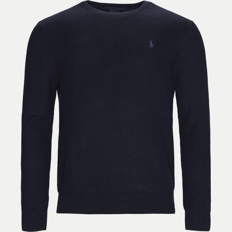 710680593 - Crewneck Knitted Jumper - Strik - Regular - NAVY - 1