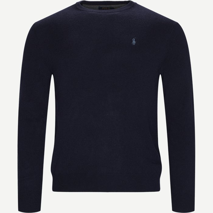 Crew Neck Jumper - Strik - Regular - Blå