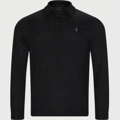 Knitted Polo Shirt Regular | Knitted Polo Shirt | Sort