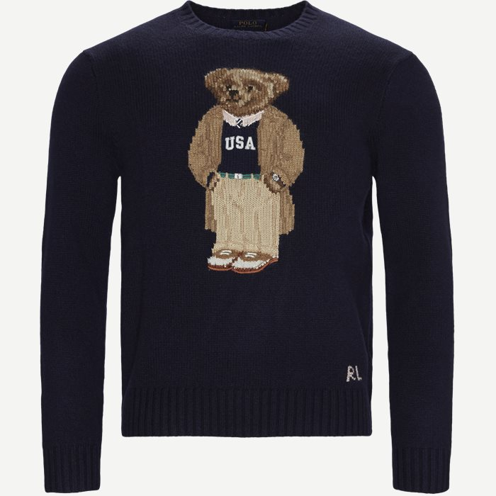 Polo Bear Sweater - Strik - Regular - Blå