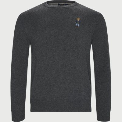 Polo Bear Crew Neck Knit Regular | Polo Bear Crew Neck Knit | Grå