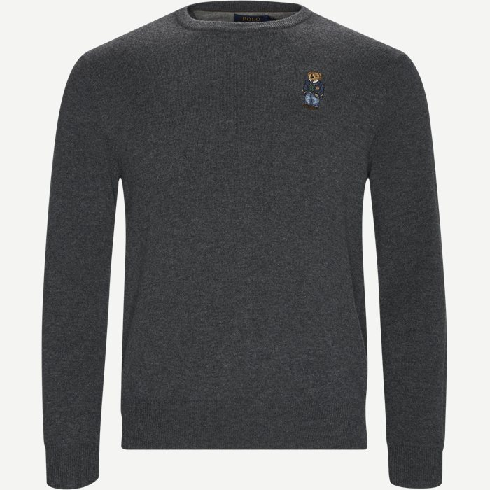 Polo Bear Crew Neck Knit - Strik - Regular - Grå