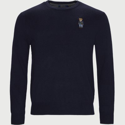 Polo Bear Crew Neck Knit Regular | Polo Bear Crew Neck Knit | Blå