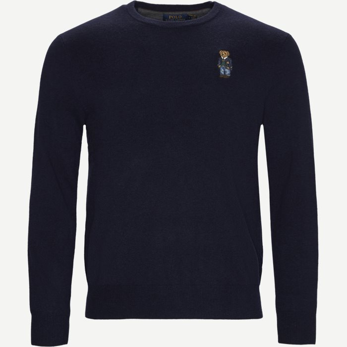 Polo Bear Crew Neck Knit - Strik - Regular - Blå