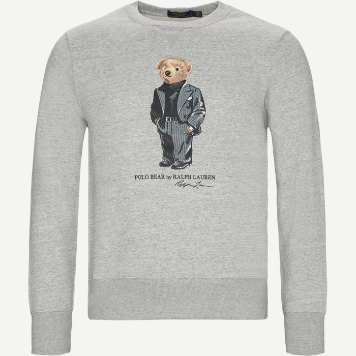 Suit Bear Fleece Sweatshirt - Sweatshirts - Grå