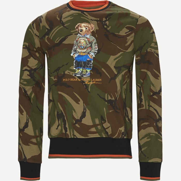 Polo Bear Camo Sweatshirt - Sweatshirts - Regular - Grøn
