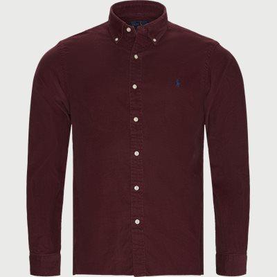 Corduroy Button-Down Shirt Slim | Corduroy Button-Down Shirt | Bordeaux